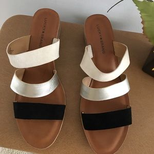 Lucky Brand women's tri color sandals